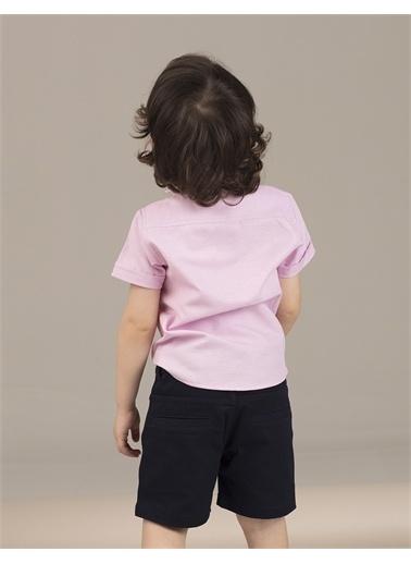 Ollie & olla Pink Dokuma Erkek Çocuk Gömlek Pembe
